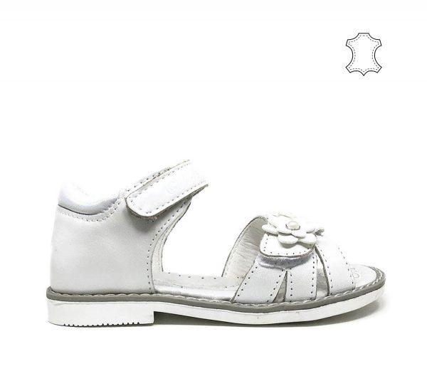 детски-сандали-естествена-кожа-бели-clibee-